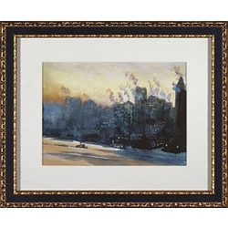 City Watercolor Framed Art II