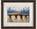 City Watercolor Framed Art III