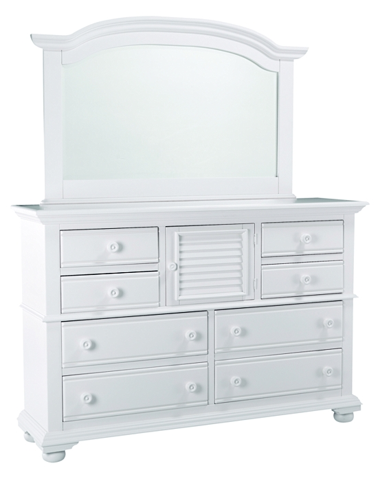 Bedrooms cottage retreat ii high dresser mirror bedrooms havertys furniture Cottage retreat collection bedroom furniture