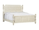 Southport King Panel Bed - Distressed White