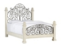 Southport Queen Poster Bed - Distressed White