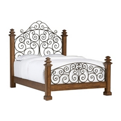 Southport Queen Poster Bed - Pine