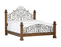 Southport King Poster Bed - Pine