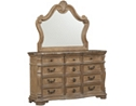 Villa Sonoma Dresser with Mirror - Light