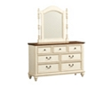 Southport Dresser/Mirror - Distressed White