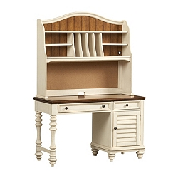 Southport Desk/Hutch - Distressed White