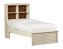 Southport Twin Storage Bed - Distressed White