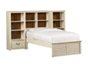 Southport Twin Wall Storage Bed - Distressed White