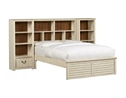 Southport Full Wall Storage Bed - Distressed White