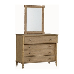 Willowwood Road Sugarberry Dresser/Mirror - Pine