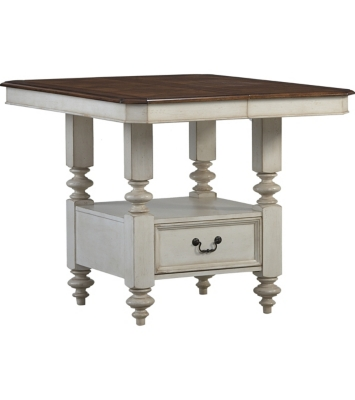 Great Dining Rooms, Southport Pub Table   Distressed White, Dining Rooms