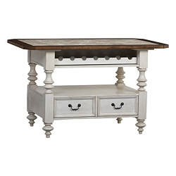 Southport Kitchen Island - Distressed White