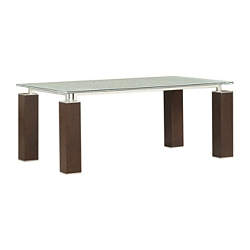 Vogue Rect Table - Clear Crackle Top