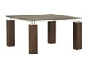 Vogue Square Table - Smoked Crackle Top