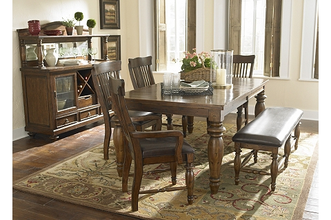 Woodbridge buffet for Dining room tables havertys