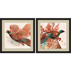 Watercolor Pheasants