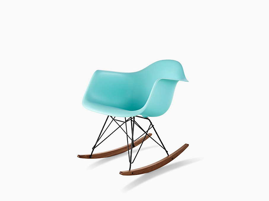 Eames Rocking Chair : Eames molded plastic armchair rocker base herman miller