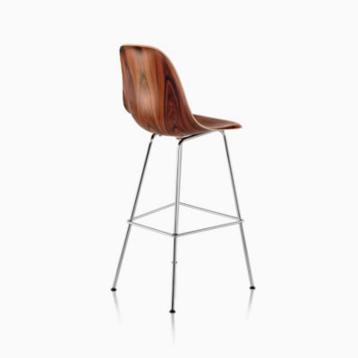 Eames Molded Wood Stool Bar Height