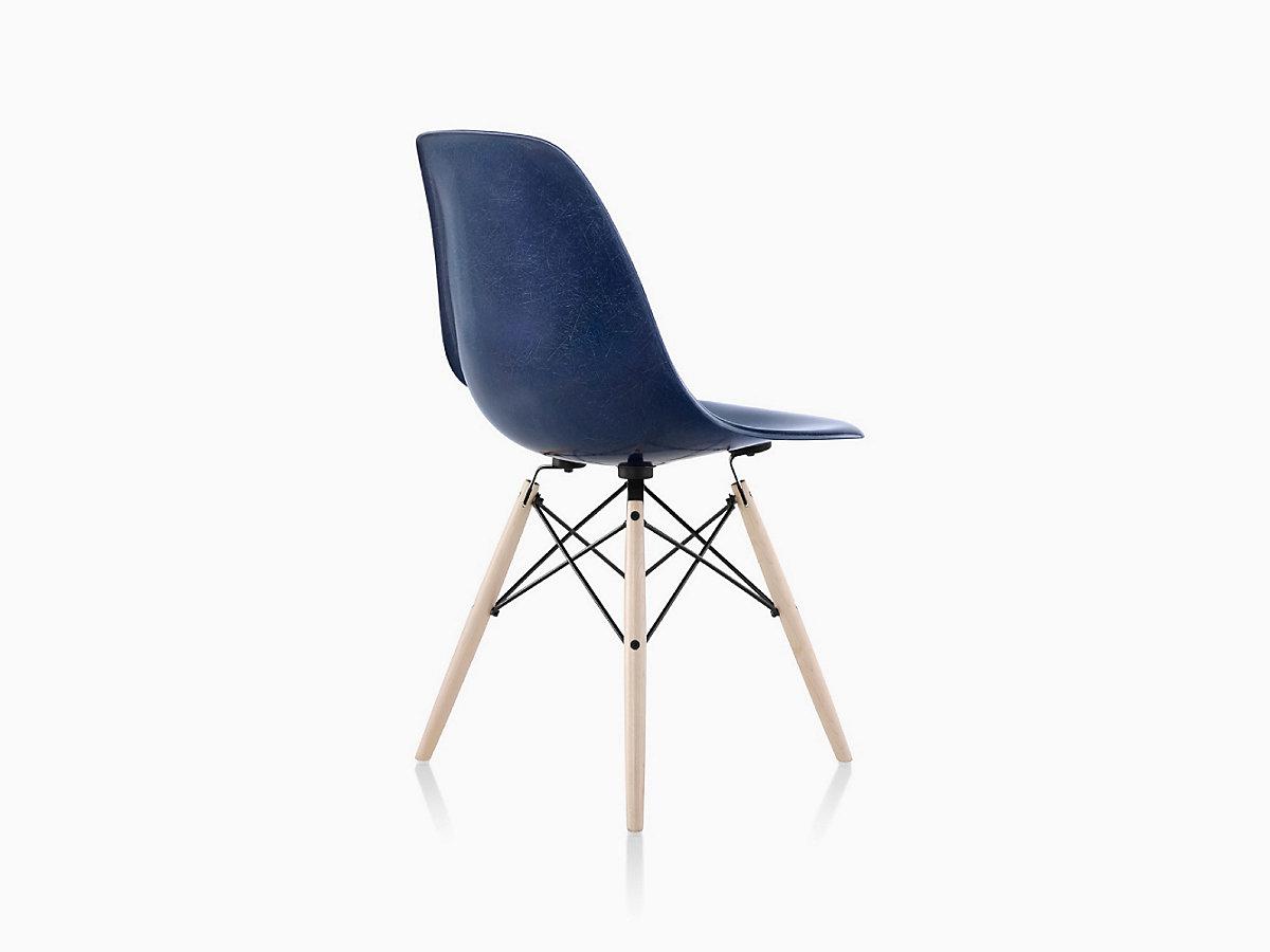 eames molded fiberglass side chair dowel base herman miller