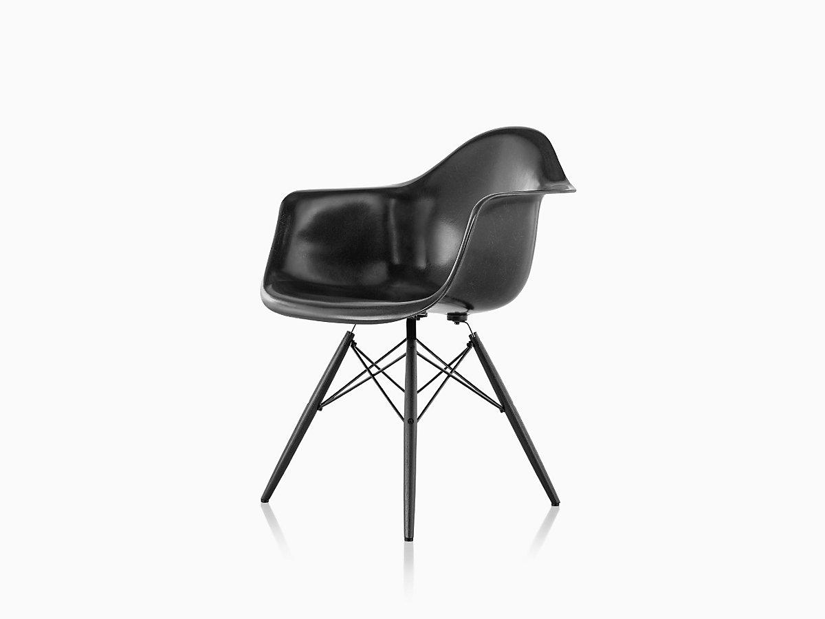 eames molded fiberglass armchair dowel base herman miller