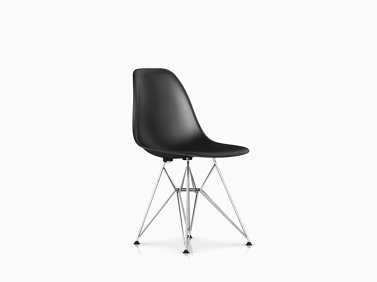 eames molded fiberglass side chair wire base herman miller