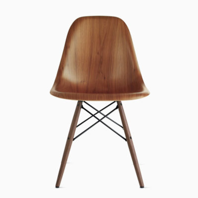 Eames Molded Wood Side Chair, Dowel Base