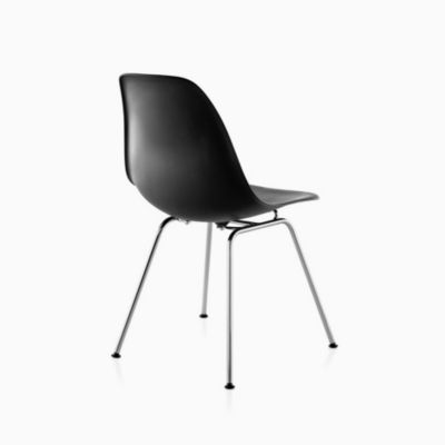 Eames Molded Plastic Side Chair 4-Leg Base