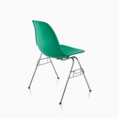 Eames® Molded Plastic Stacking Side Chair (DSS)