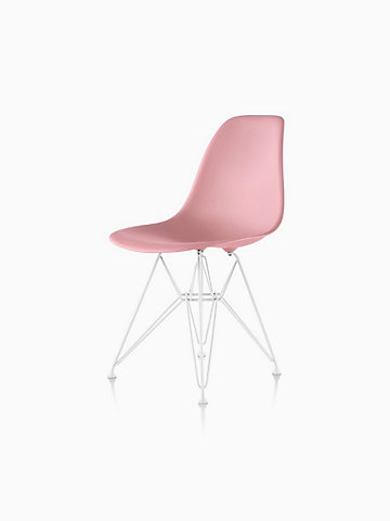 EamesR Molded Plastic Wire Base Side Chair DSR
