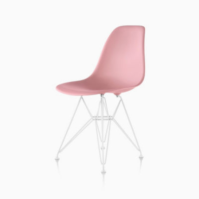 Eames Side Chair eames molded plastic side chair wire base herman miller