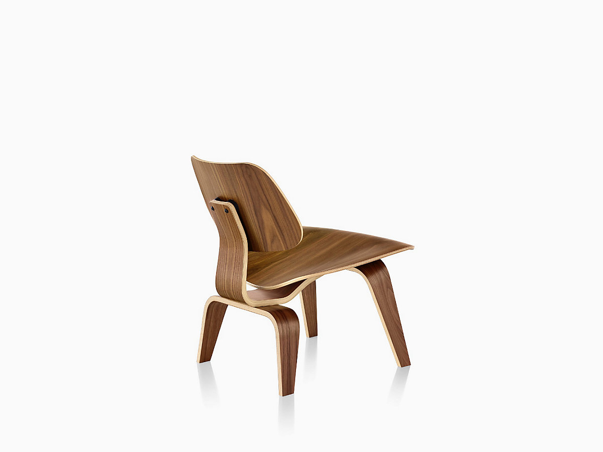 Eames molded plywood chair dimensions - Eames Molded Plywood Lounge Chair With Wood Base