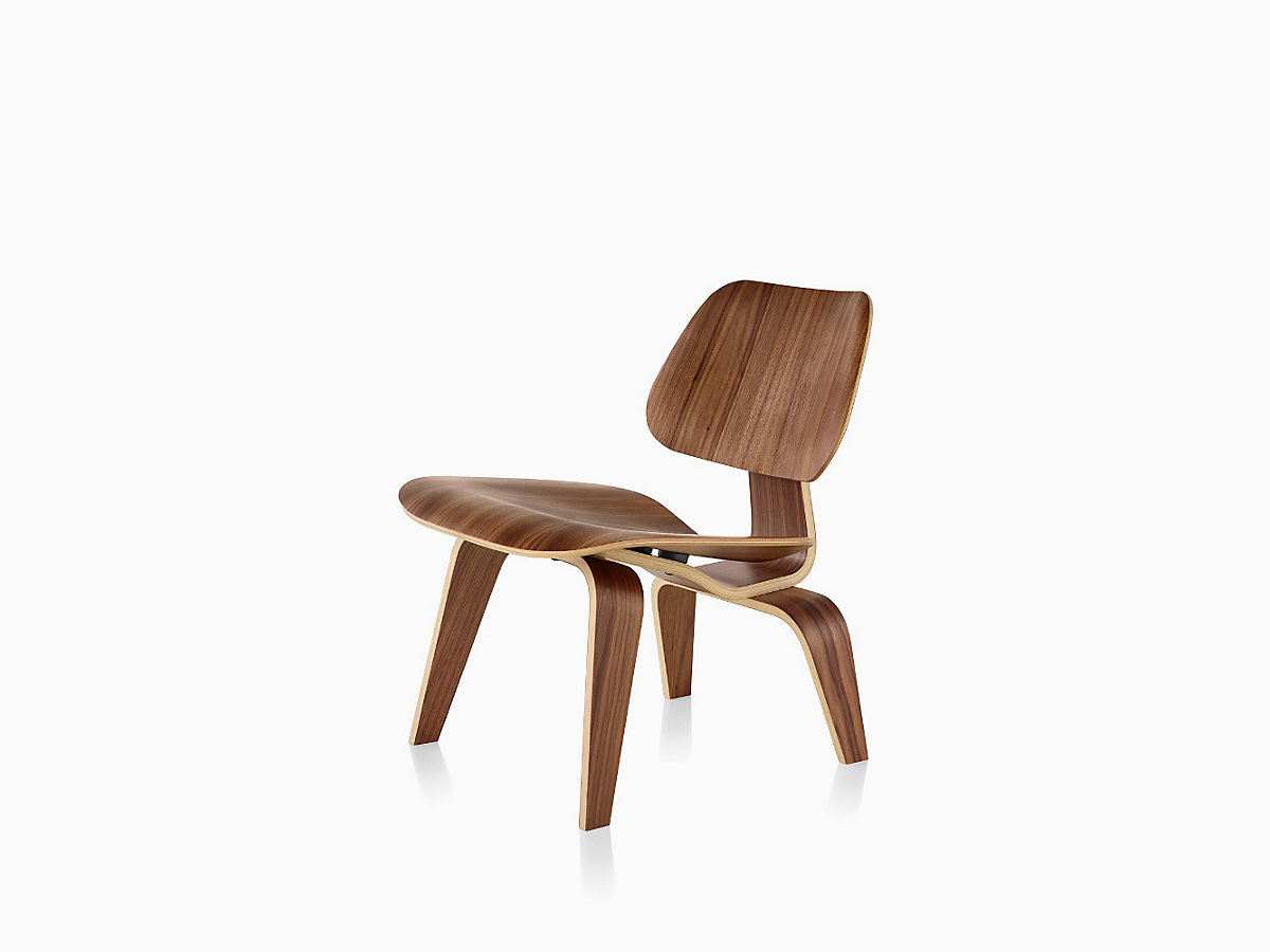 eames molded plywood lounge chair with wood base herman miller