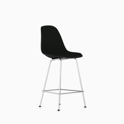 Eames Molded Fiberglass Stool Counter Height Upholstered