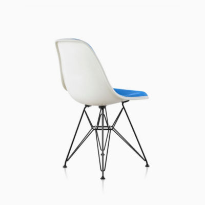 Eames Molded Plastic Side Chair Wire Base Upholstered