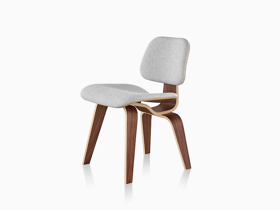 Eames molded plywood dining chair with wood base for Eames molded dining chair