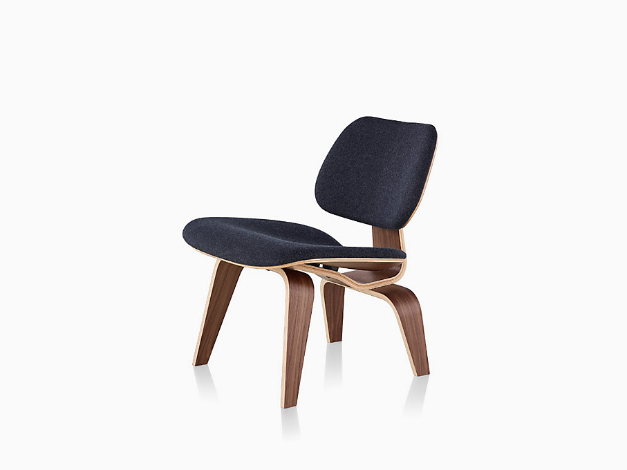eames molded plywood lounge chair with wood base. Black Bedroom Furniture Sets. Home Design Ideas
