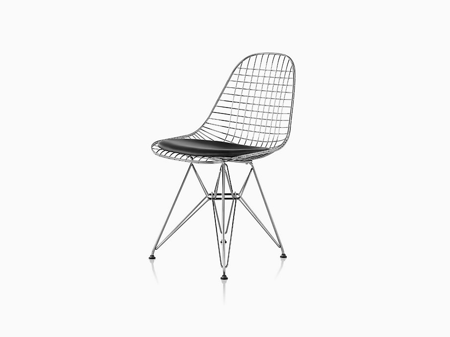 eames wire chair with seat pad herman miller. Black Bedroom Furniture Sets. Home Design Ideas