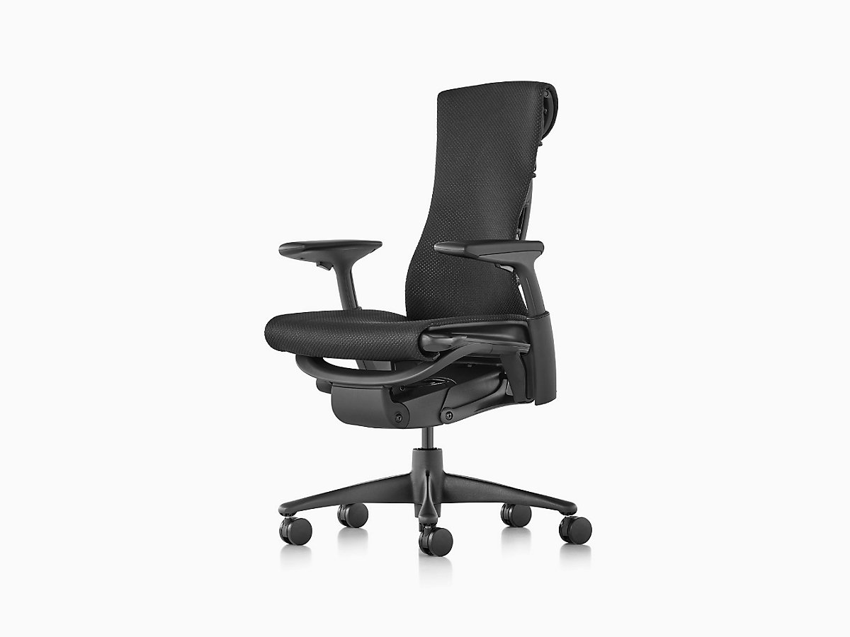 embody graphite miller black chair product frame herman rhythm textile