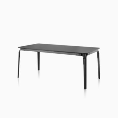 Magis Steelwood Table with Rectangular Top