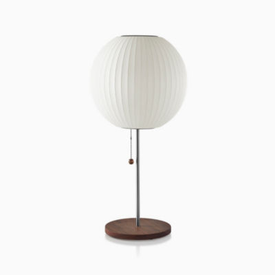 Nelson™ Ball Table Lamp, Walnut Base