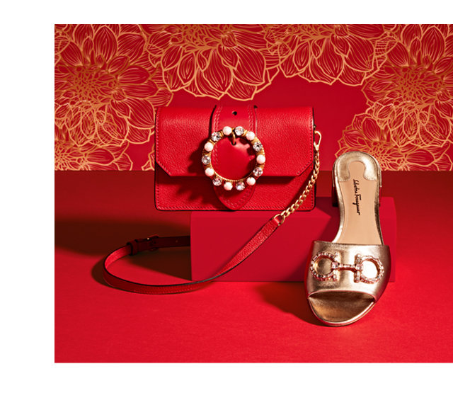 Miu Miu Leather Miu Lady Bag Salvatore Ferragamo Leather Lampio Sandal With Crystal Embellishment