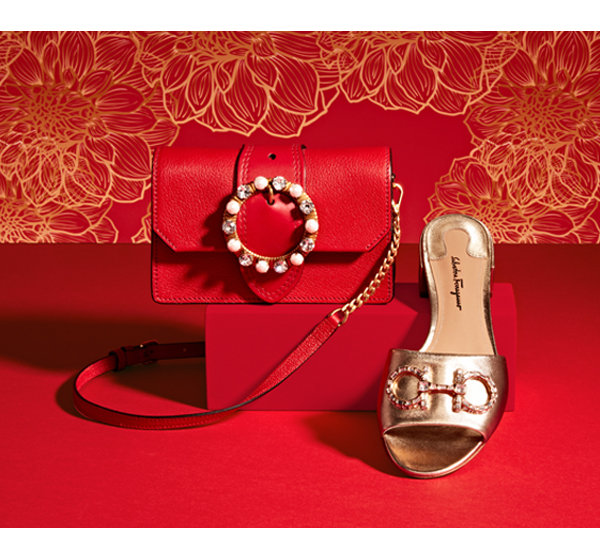 Miu Miu Leather Miu Lady Bag Salvatore Ferragamo Leather Lampio Sandal With Crystal Embellishment