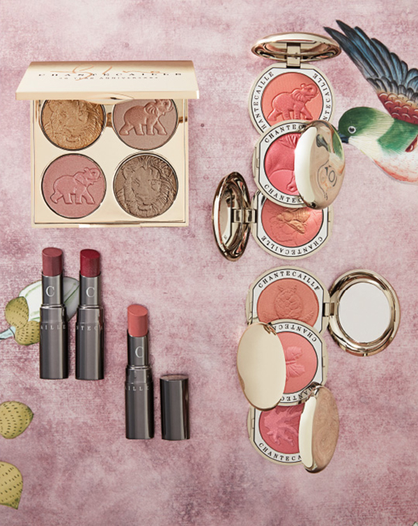 Chantecaille. From Lip Chics in fresh petal pink and luscious plum, to a spectrum of animal-embossed cheek shades and a palette that supports Sylvie's favourite causes—lions and elephants—there's an abundance of well-intentioned beauty to indulge in