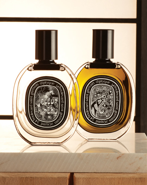 Diptyque. Live the 60s revolution with a psychedelic manifesto of musk and iris or the freedom and rebellion of Flower Power patchouli