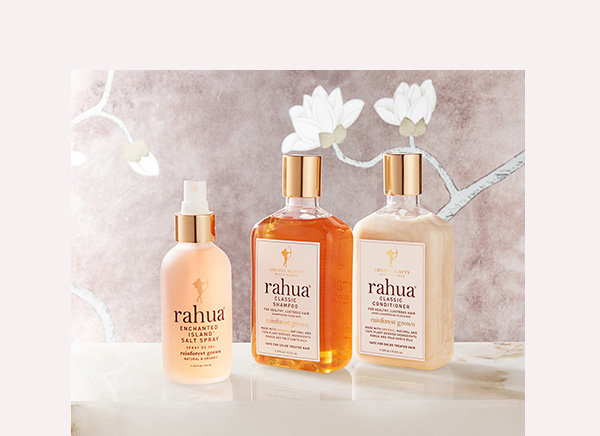 RAHUA: Utilizing the beautifying properties of Rahua Oil, a fortifying and shine-inducing oil sustainably sourced from the Amazon, Rahua is a luxurious collection of all-natural hair care products that deliver transformative results.