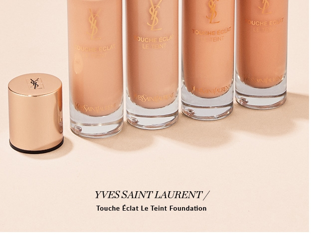 Natural Glow Skin is at its best with a little prep. Massaging in a face mist daily, and masking weekly, will keep your skin soft and dewy. Follow with foundation to set the tone for the rest of the look. YVES SAINT LAURENT Touche Éclat Le Teint Foundation. SHOP NOW
