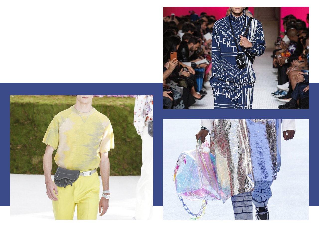 Top Trend/In the Bag. More is more when it comes to bags, with every shape and style coming down the runway. The mini saddle bags at Dior Homme and oversized duffles at Louis Vuitton were stand-outs.—Mario Grauso