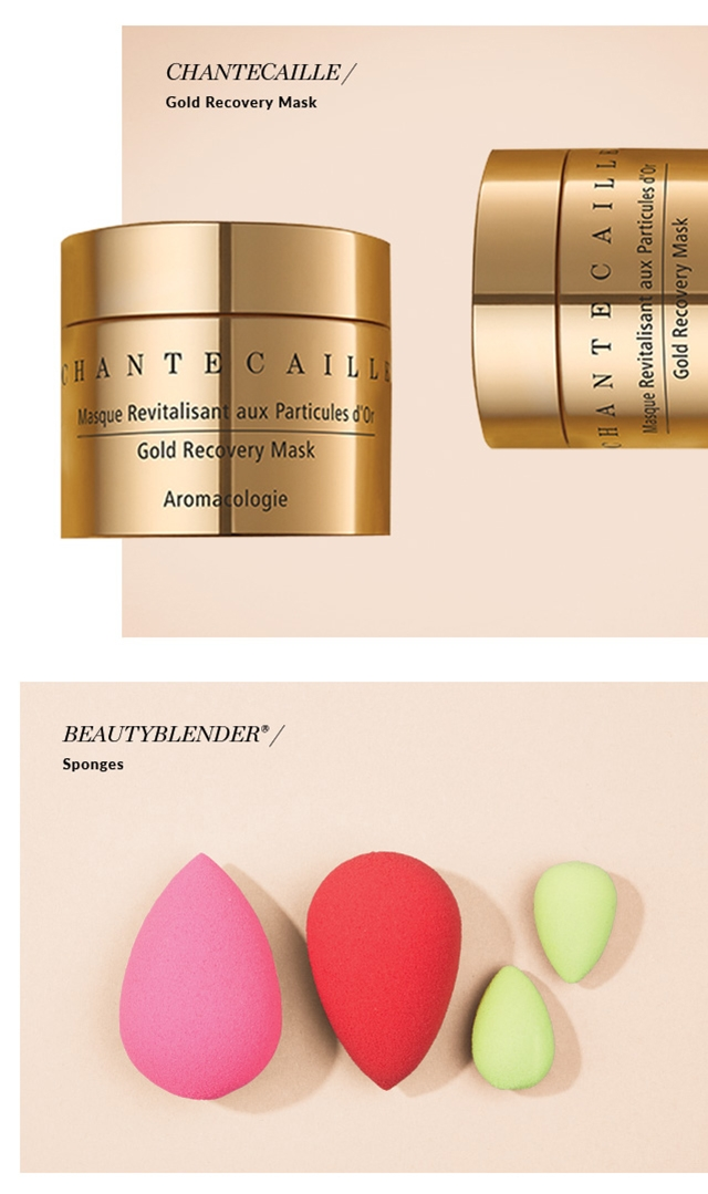 CHANTECAILLE / Gold Recovery Mask. BEAUTYBLENDER® / Sponges