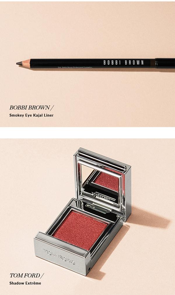 BOBBI BROWN / Smokey Eye Kajal Liner. CHANEL / Les 4 Ombres Eyeshadow