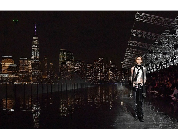 Best Location/New York State of Mind. Anthony Vaccarello brought his Saint Laurent show stateside, taking over New Jersey's Liberty State Park to create a catwalk with the NYC skyline as a breathtaking backdrop for the clothes. —Joseph Tang